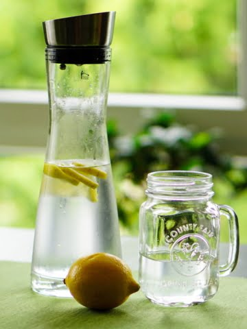 clean drinking water in a glass