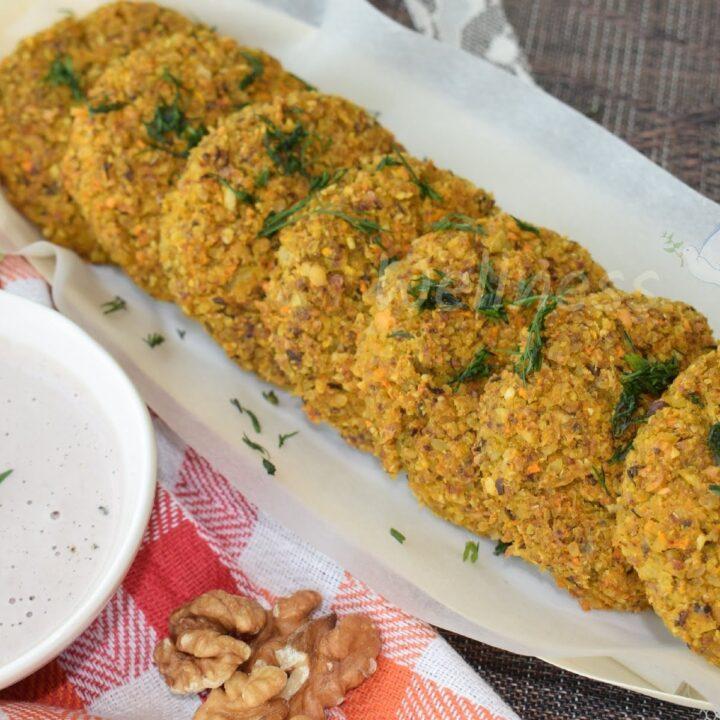 Baked Arabic Veggie Bean Patties