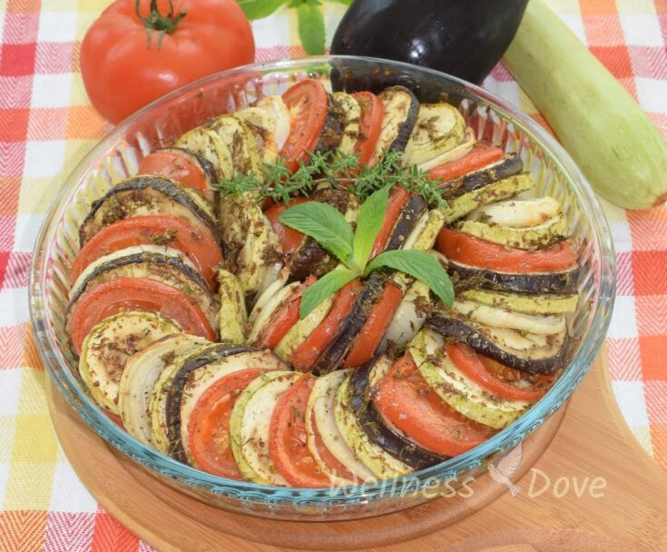 Oil free Vegan Fresh Herbs Ratatouille