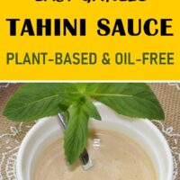 Easy Garlic Tahini Sauce