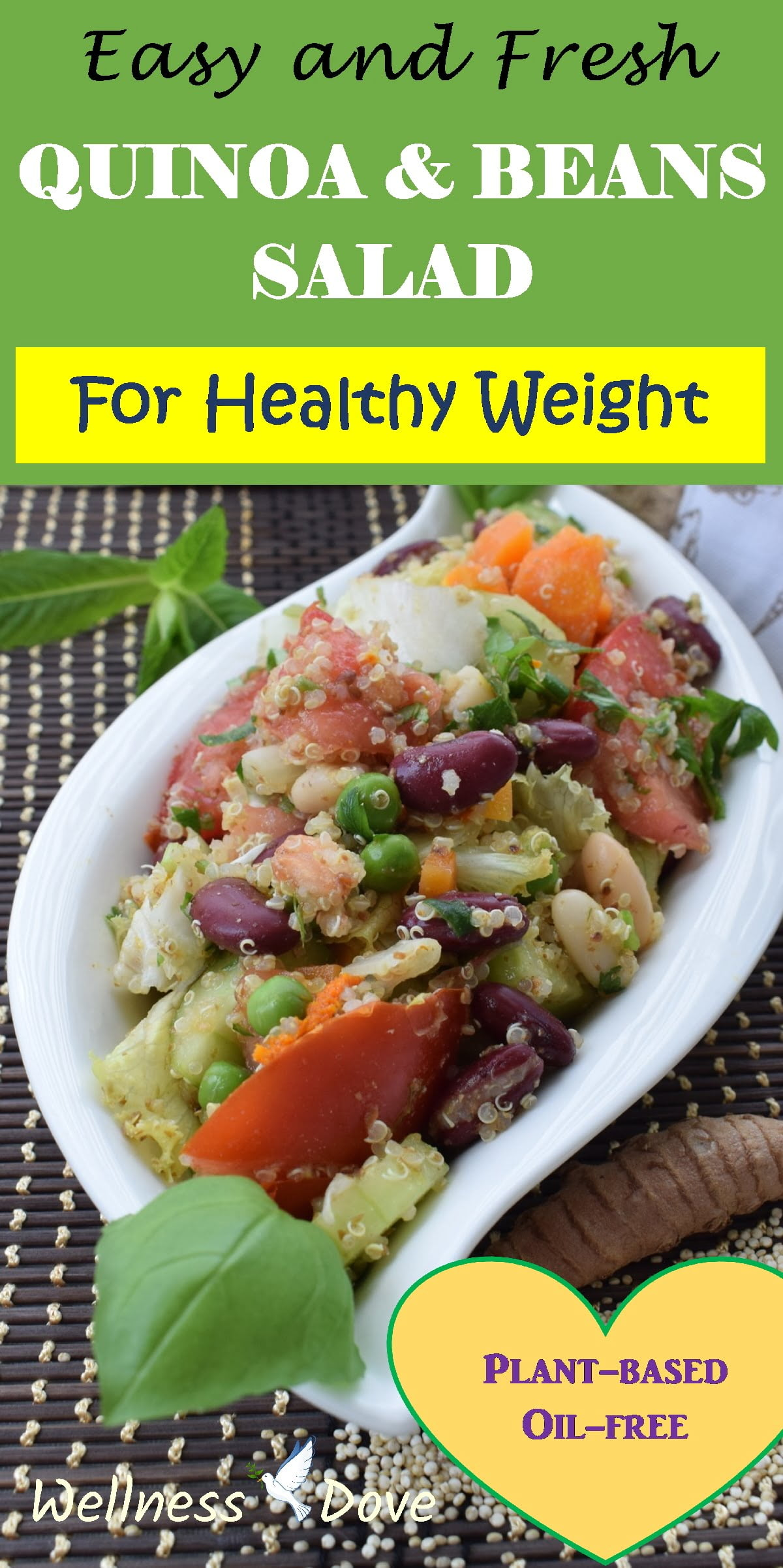 Easy and Fresh Quinoa & Beans Salad   Whole Plant Foods