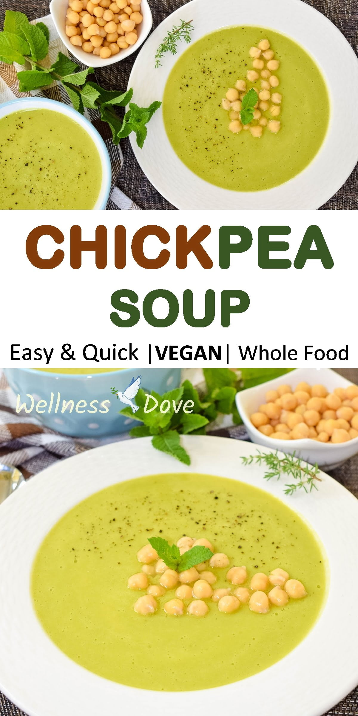 Super easy and quick to cook, delicious bean soup. Truly appetizing and irresistible with its bright green color this soup looks and tastes superb! Great for your health, as well, with only natural whole plant ingredients!
