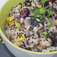 Brown Rice Mushroom Risotto with Beans & Corn | Whole Food, Plant-Based