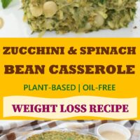 Zucchini & Spinach Bean Casserole