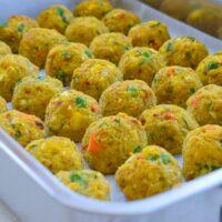 Oil- and Gluten-free Baked Chickpea Balls | Vegan
