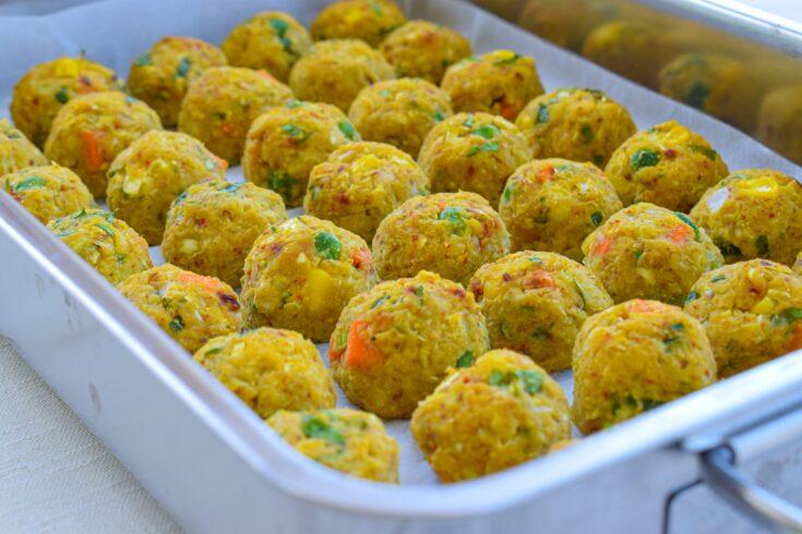 Oil- and Gluten-free Baked Chickpea Balls   Vegan