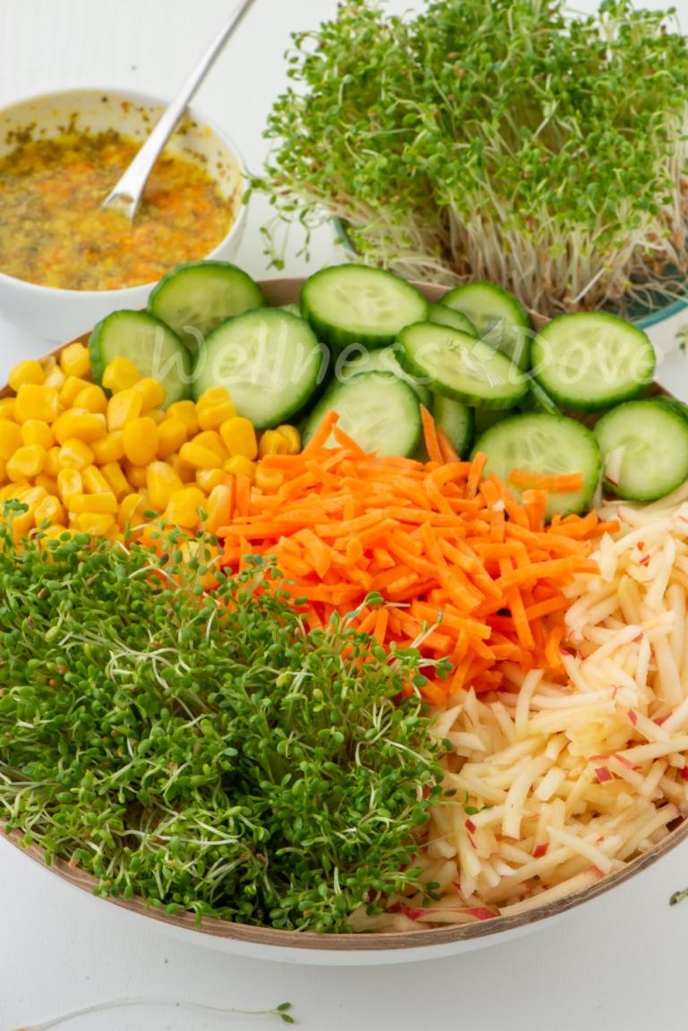 Vertical shot of the salad