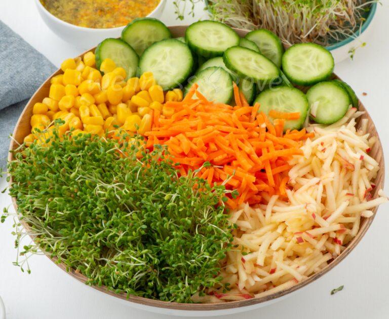 The vegan salad, macro