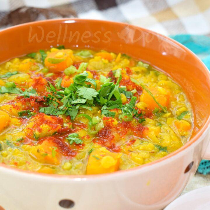 Super Quick Sweet Potato Red Lentil Soup
