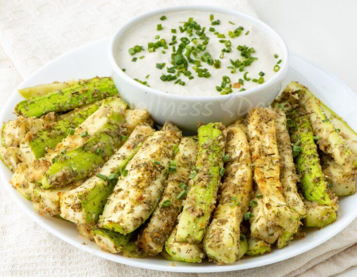 Easy Vegan No Oil Baked Zucchini Sticks