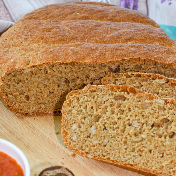 Easy No Knead Einkorn Bread