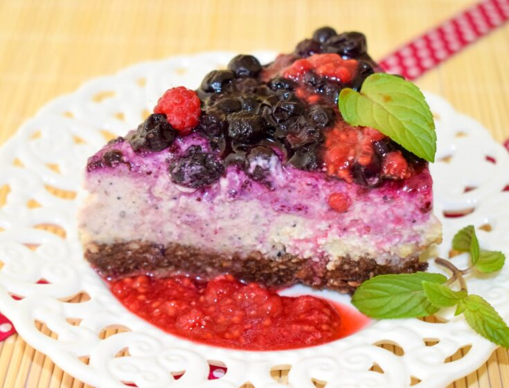 Healthy Vegan Cheesecake with Blueberries | Whole Foods