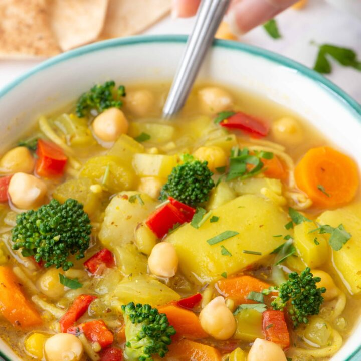 Hearty & Fresh Broccoli Chickpea Soup | Whole Foods Vegan