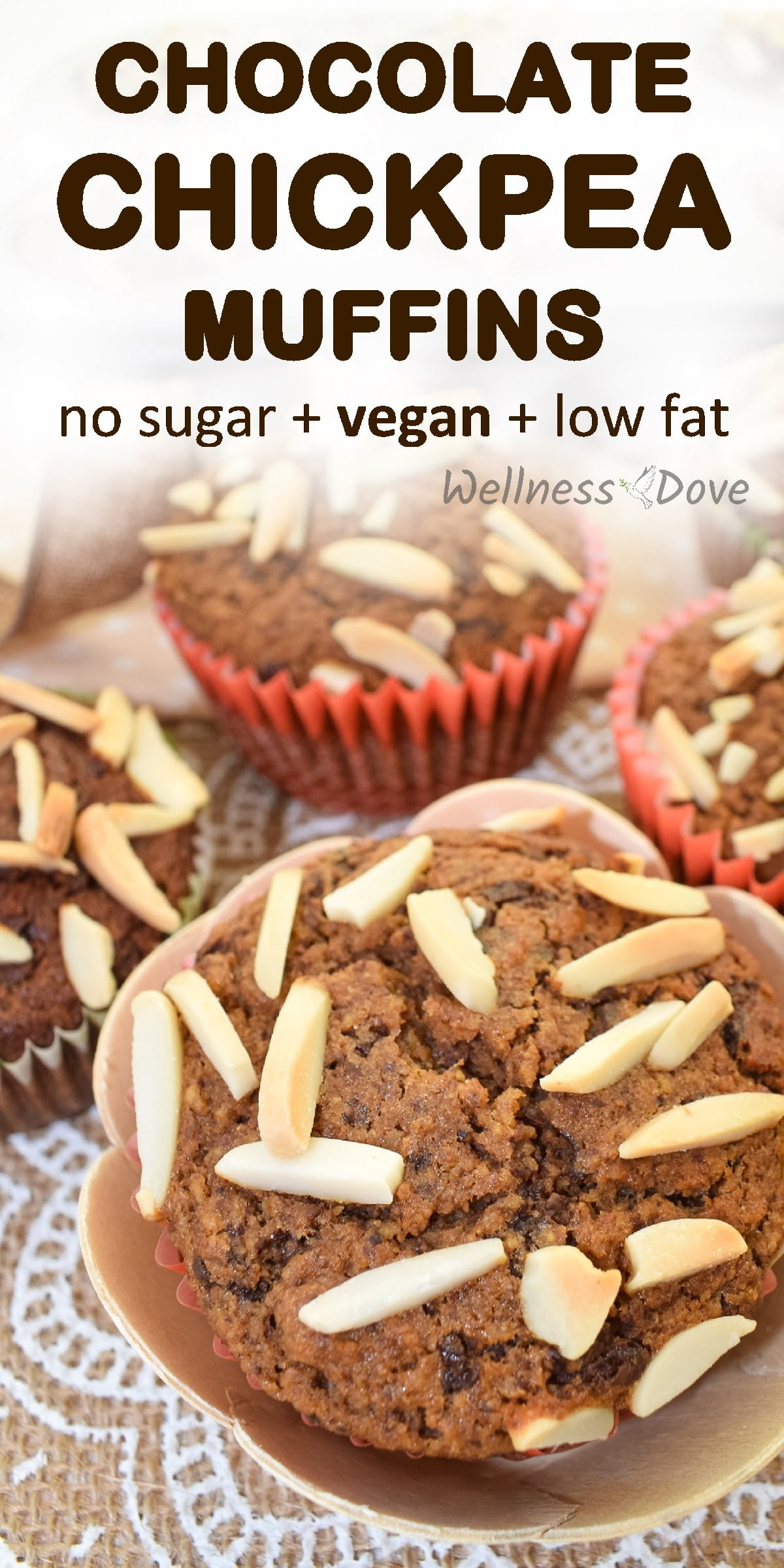 Super tasty muffins that you cannot believe have no sugar and practically not oil! With raw cacao beans that give such an enticing aroma to them. These muffins make a healthy snack or breakfast for any time of the day. Enjoy them guilt-free!