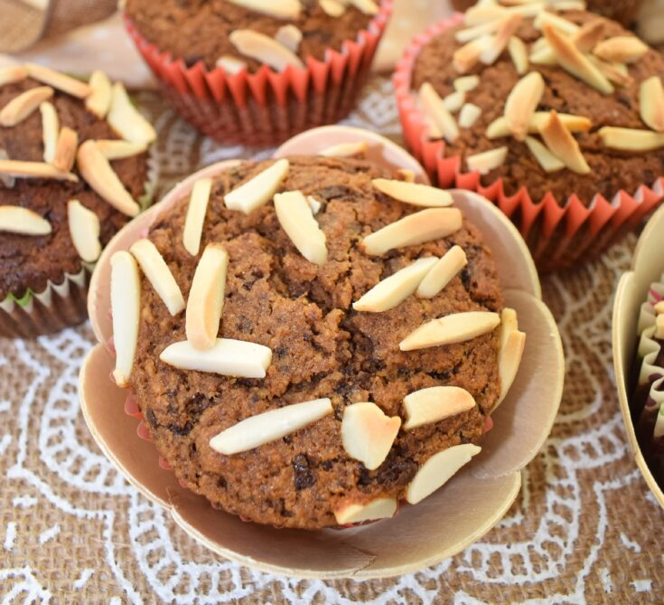 Super Healthy Vegan Chocolate Chickpea Muffins