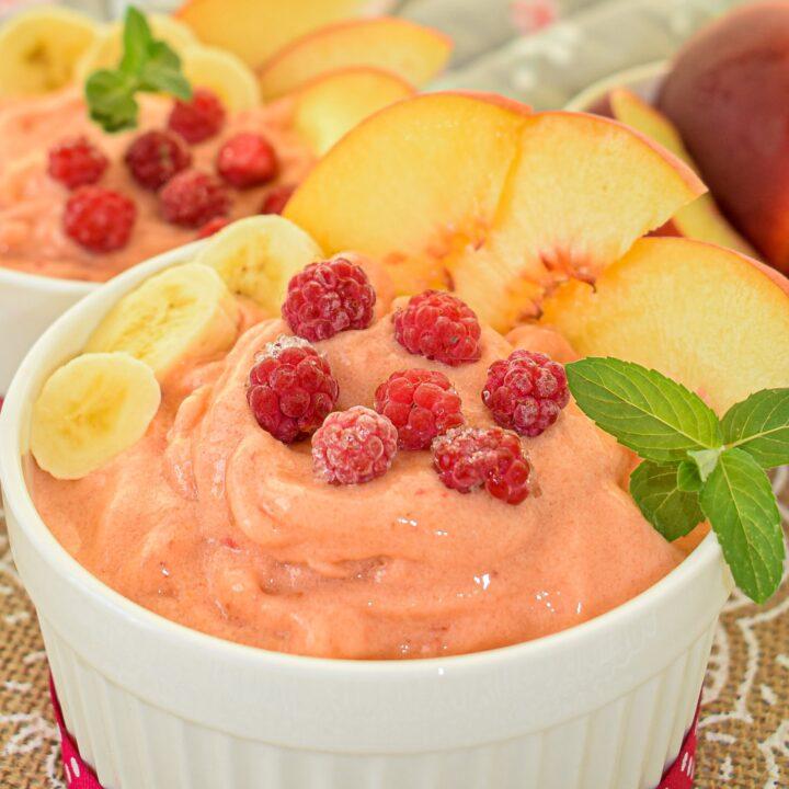 Easy Vegan Peachy Sorbet