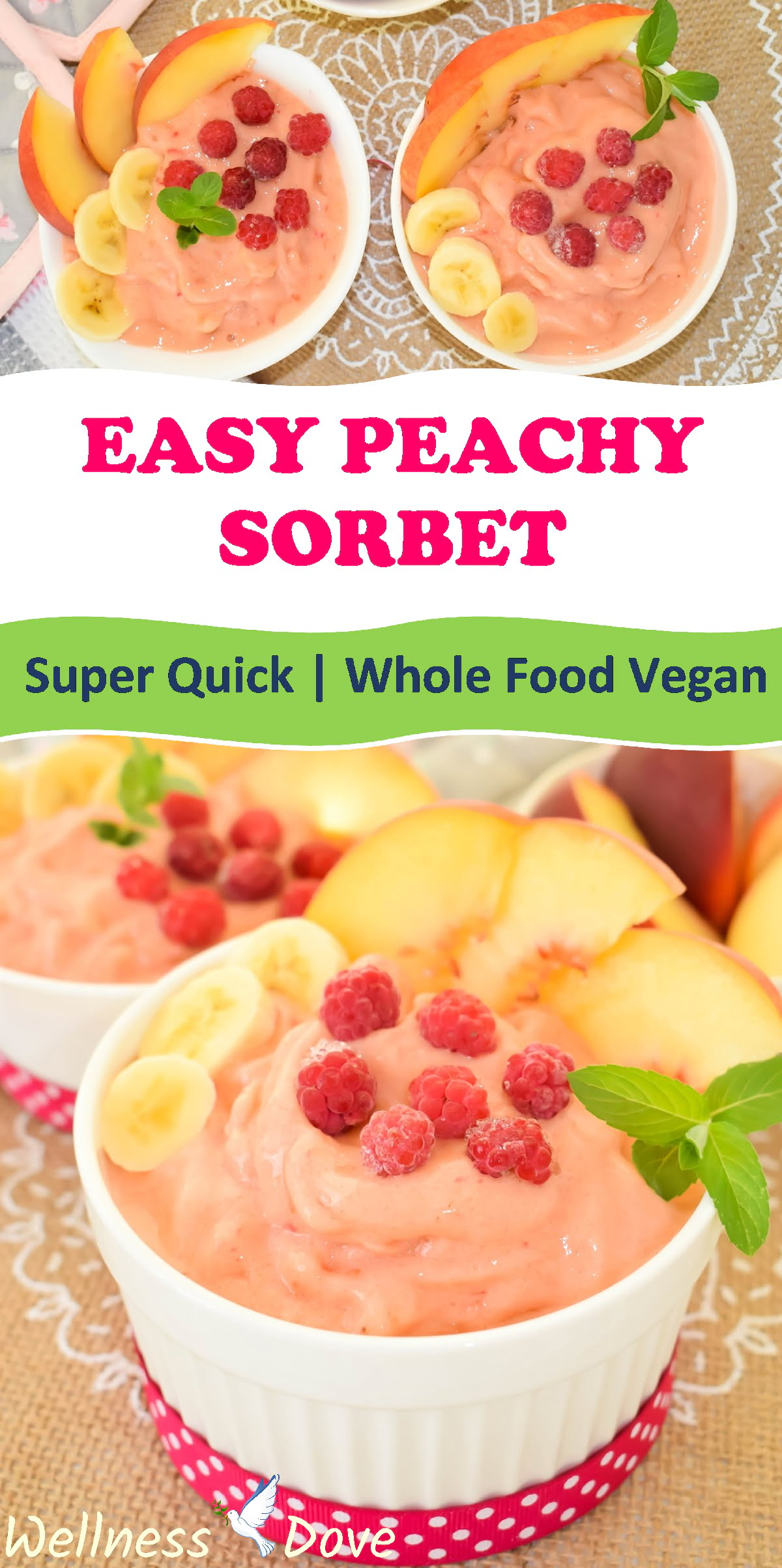 This is a simple and healthy, plant-based frozen dessert. Whole natural plant ingredients. Super fresh and delightful!   Vegan