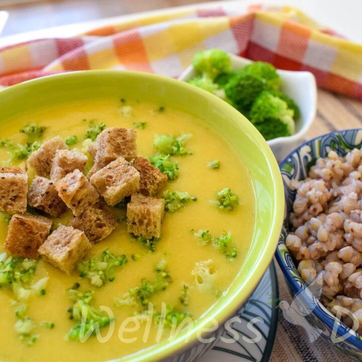 Healthy Vegan Broccoli Cream Soup