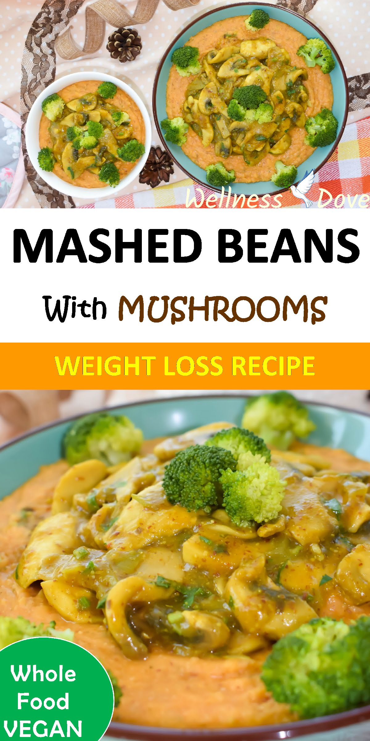 Oil-free recipe with only whole plant food ingredients.The curry powder and garlic add to the eastern note of the mushroom sauce.It combines perfectly with the taste of beans, giving you a rich and satisfying flavor.