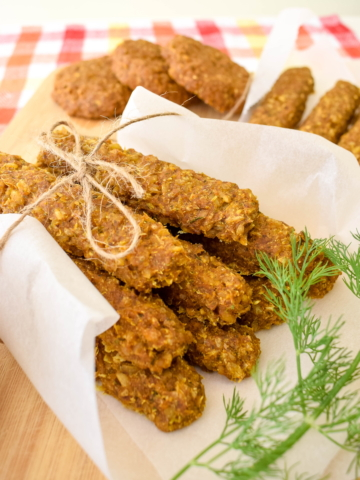Vegan Whole Wheat Nuggets ¾ view