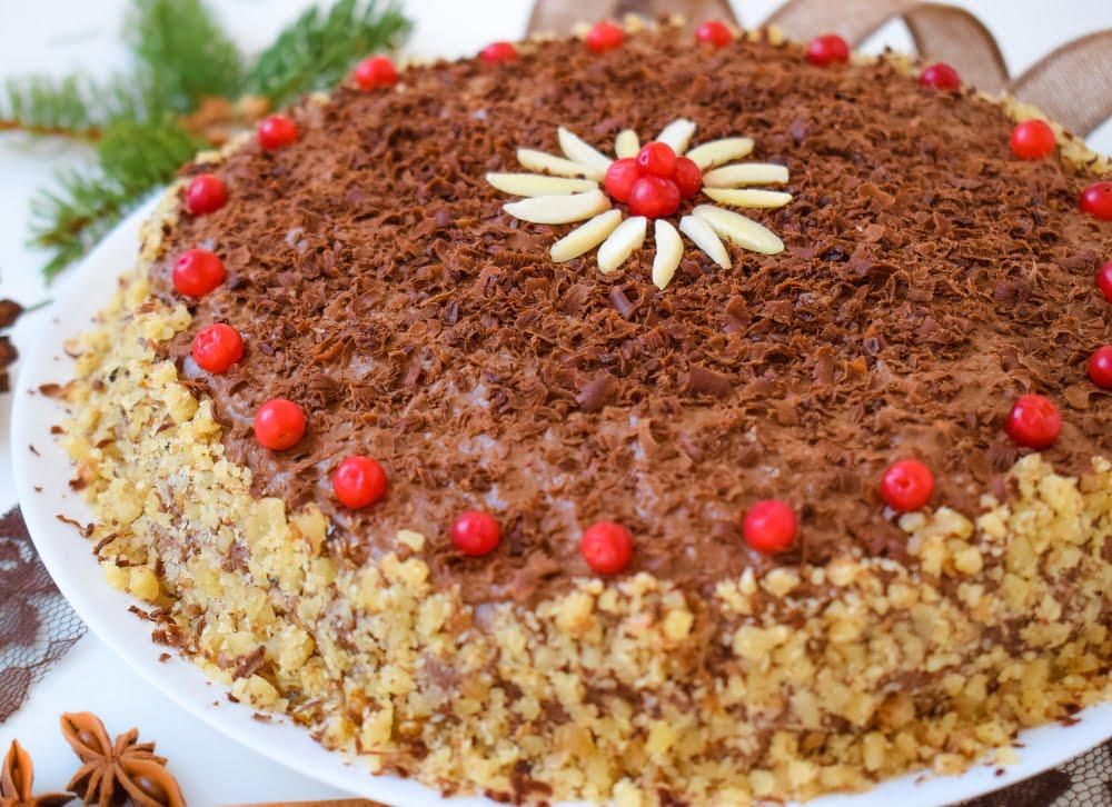 Oil-free Vegan Chocolate & Walnut Cake
