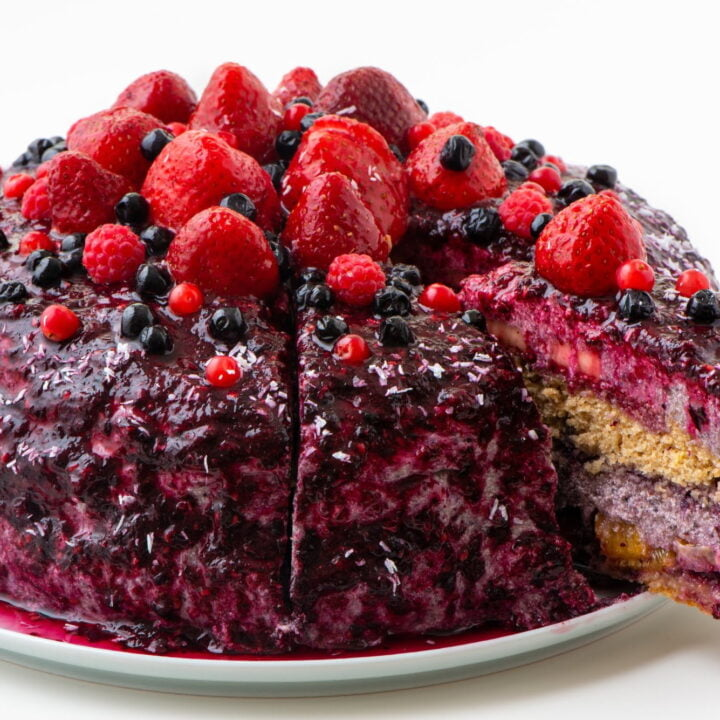 Vegan Fruity Blueberry Cake