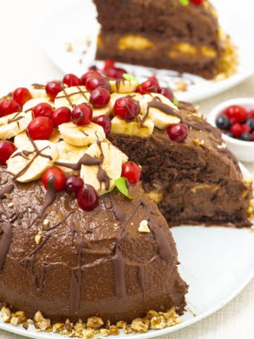 Featured image of the vegan chocolate cake