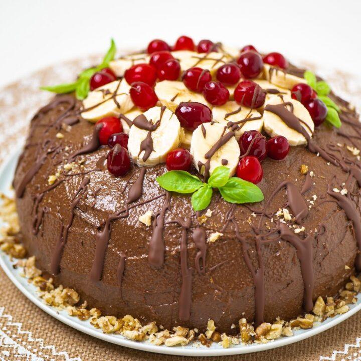 Super Healthy Banana Avocado Chocolate Cake | Vegan