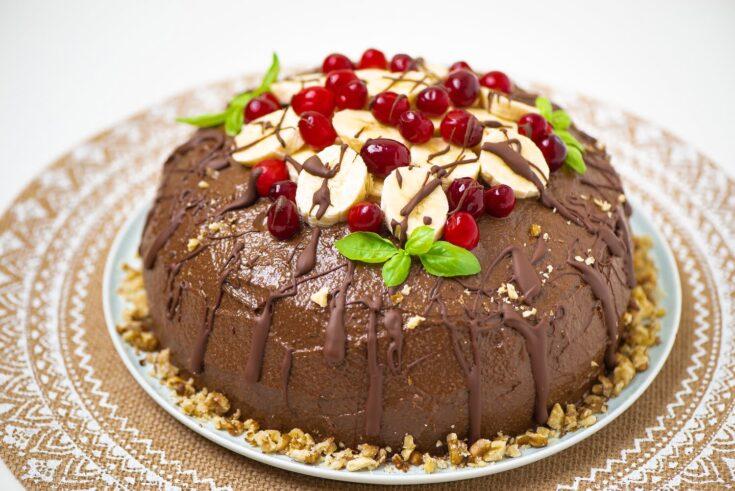 Super Healthy Banana Avocado Chocolate Cake   Vegan