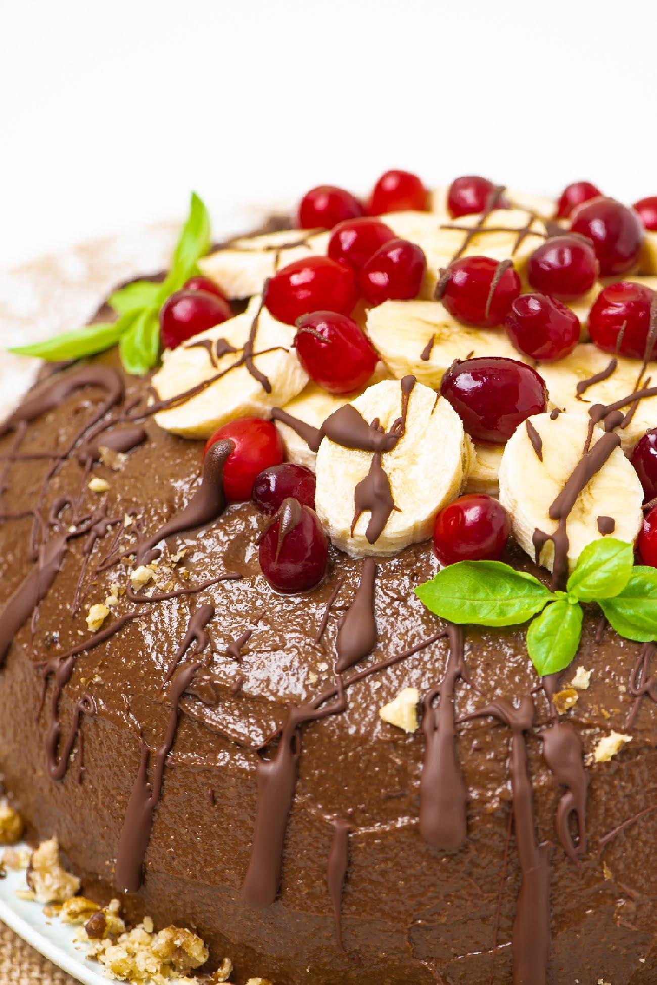Macro of the cake