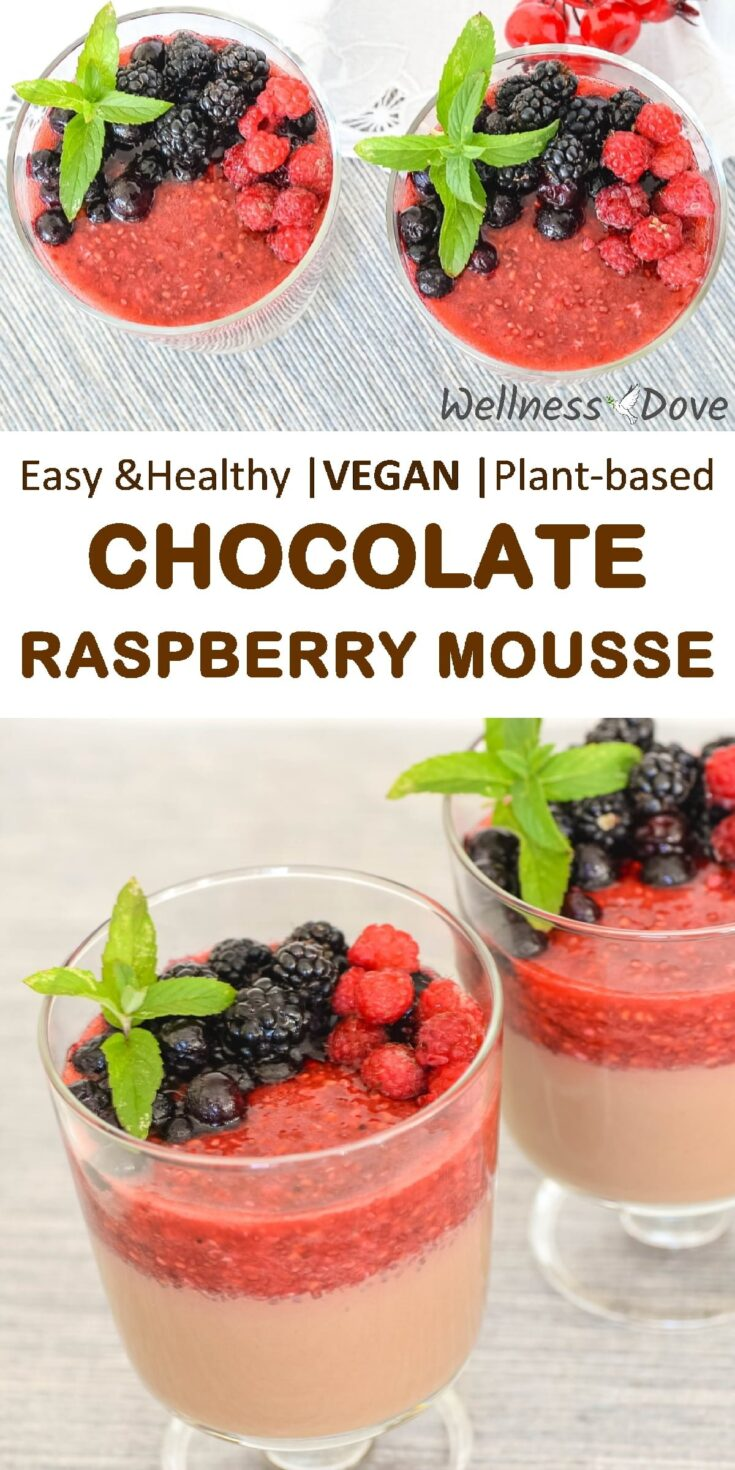 Really healthy vegan mousse, mostly whole food. With the help of low glycemic berries, this mousse is super tasty but also helps you on your weight-loss and pro-health journey. #vegan #plantbased #vegan #oilfree #veganrecipes #veganrecipeshealthy #healthyrecipes #weightloss #weightlossideas #weightlossrecipes