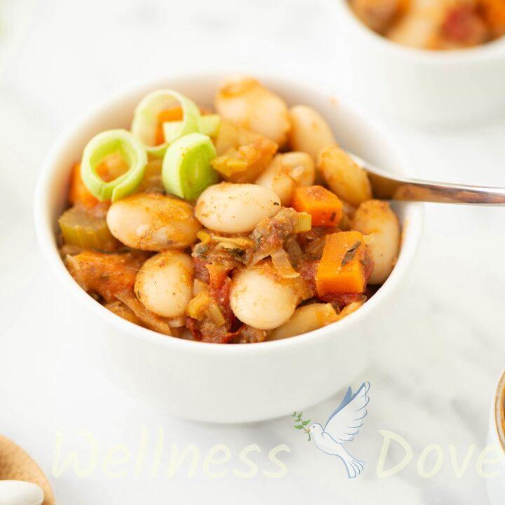 Healthy Bean & Leek Casserole