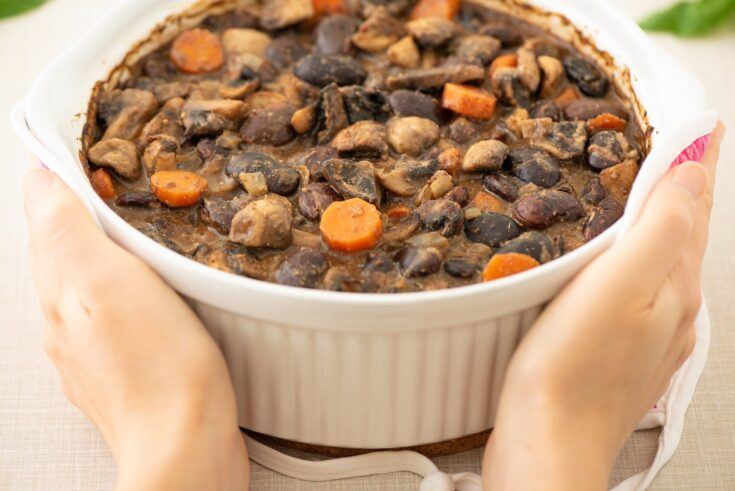 Baked Giant Beans with Mushrooms
