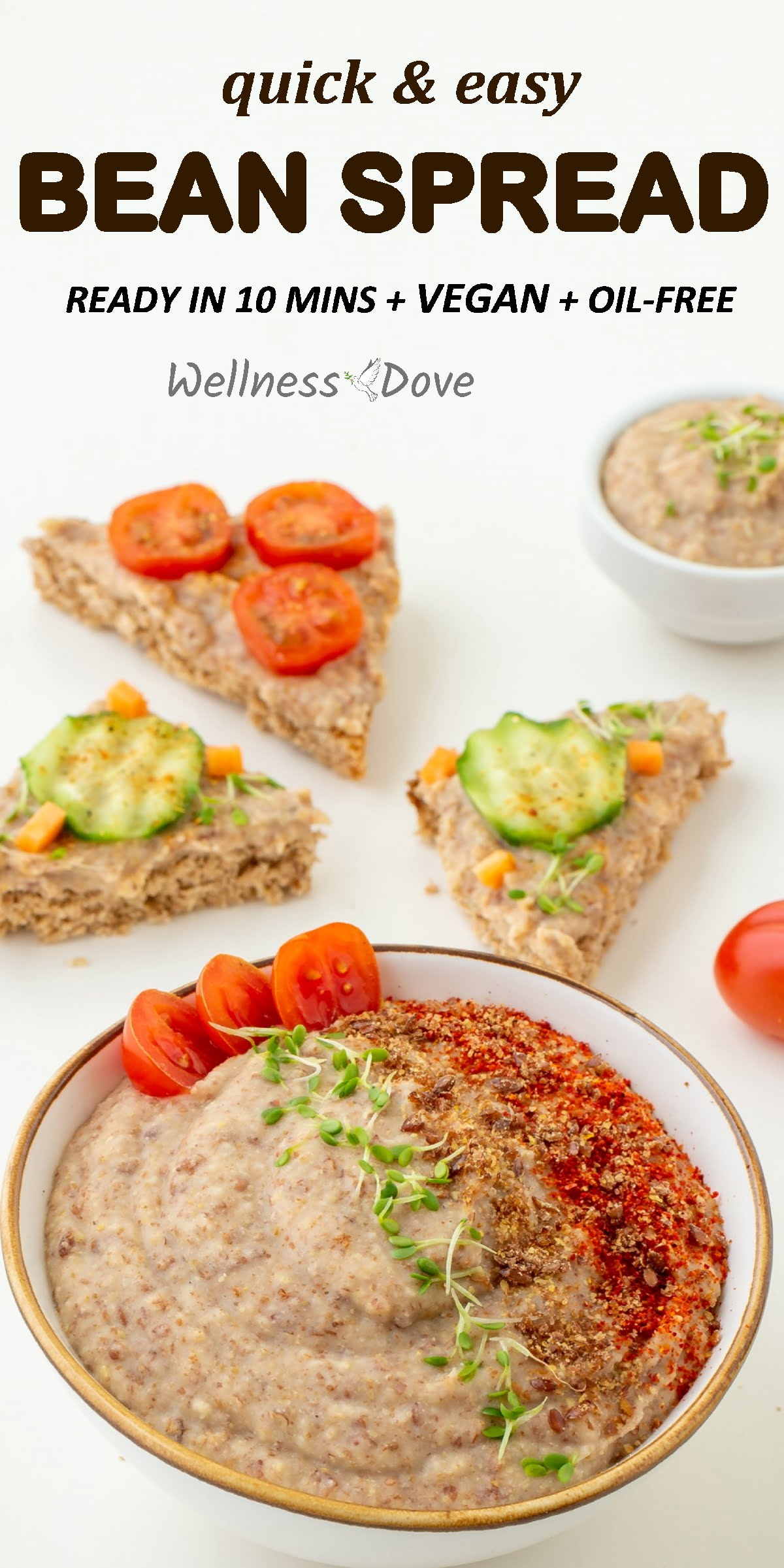 A super easy spread that is truly tasty. It might be simple but is whole food, plant based and thus superbly healthy. The spices I used are actually nutritional powerhouses that give this spread quite an enticing aroma. Enjoy this vegan spread on a loaf of whole wheat bread, in your burrito or on a leaf of lettuce. It will help you stay healthy and lose weight as well!