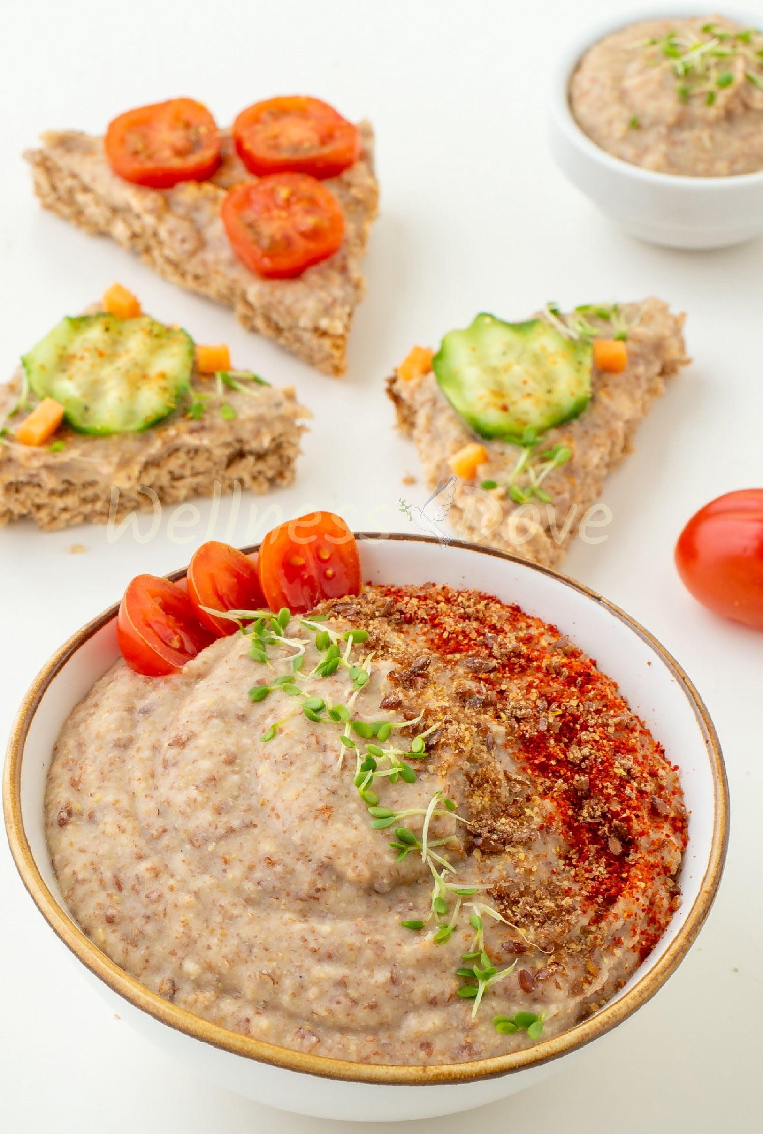 Vegan Bean Dip and sandwiches