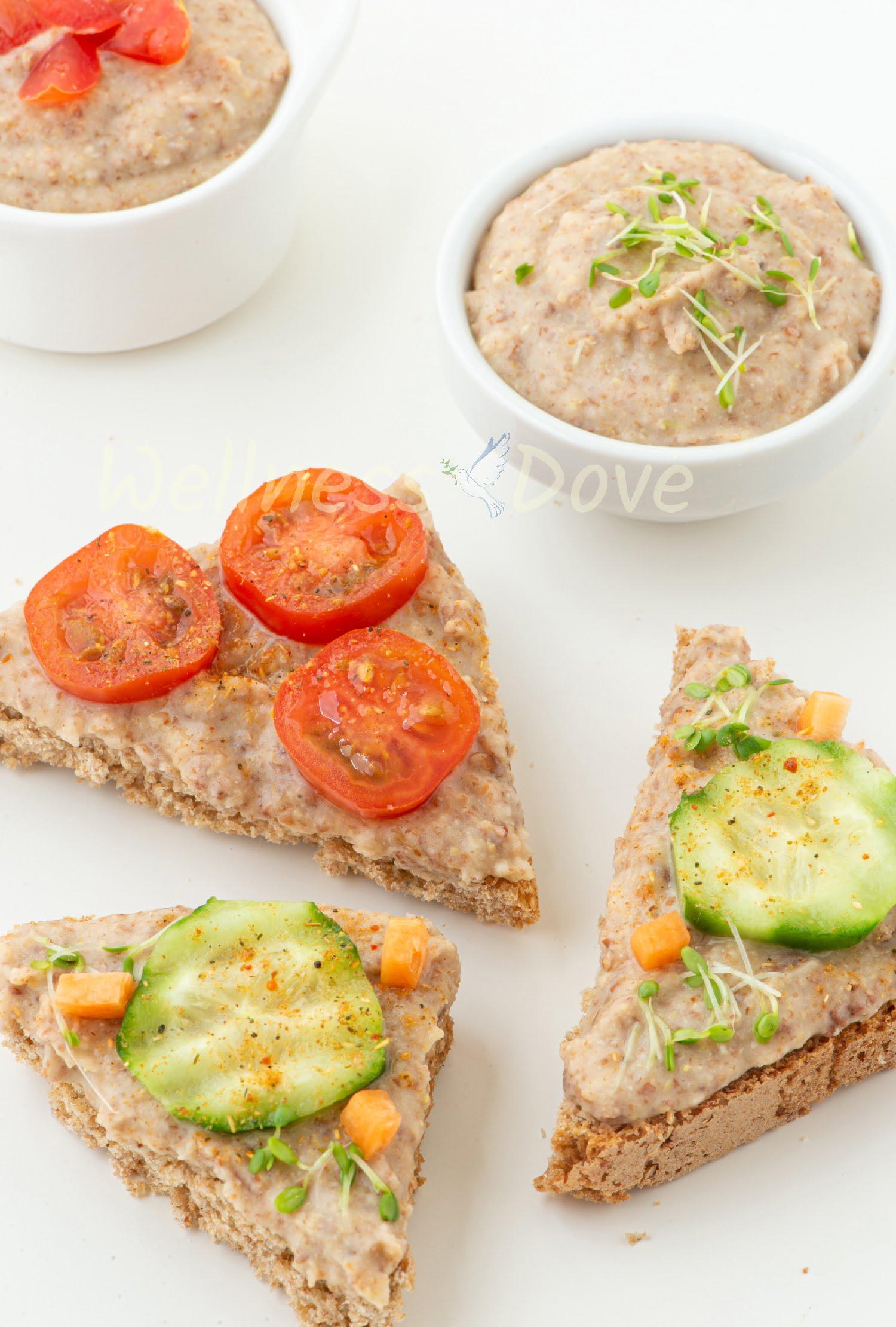 Vegan Bean Dip Recipe Sandwiches