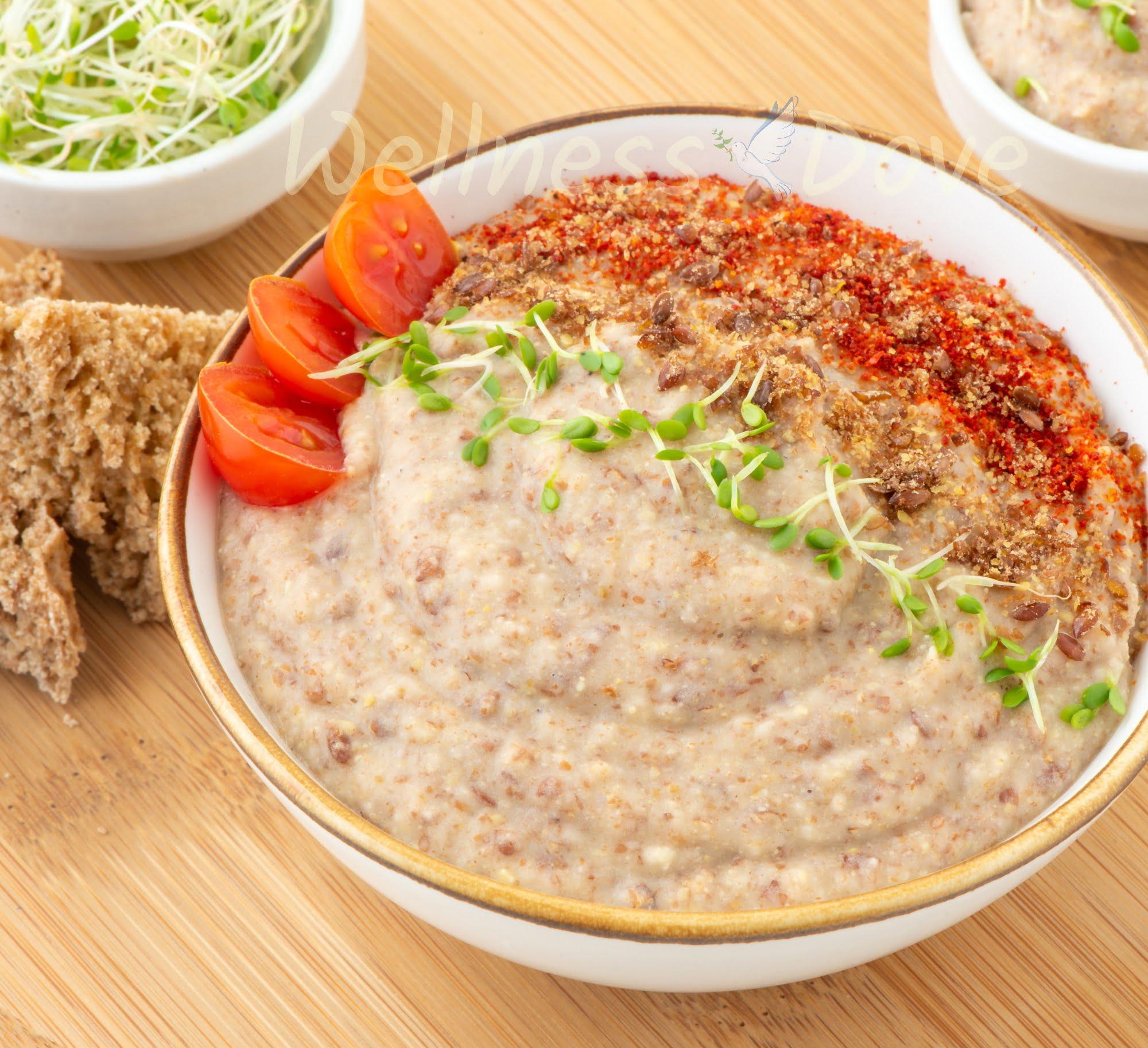 Vegan Bean Dip Recipe Close 3/4 view