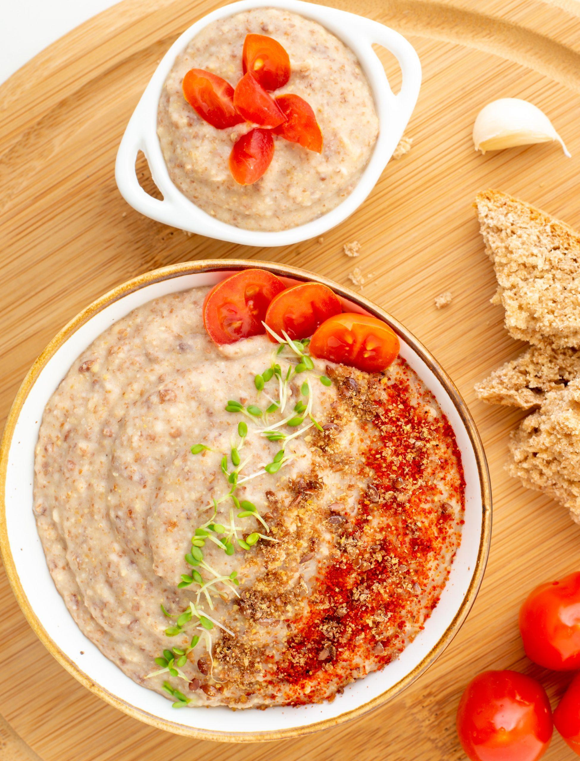 Vegan Bean Dip Recipe Overhead
