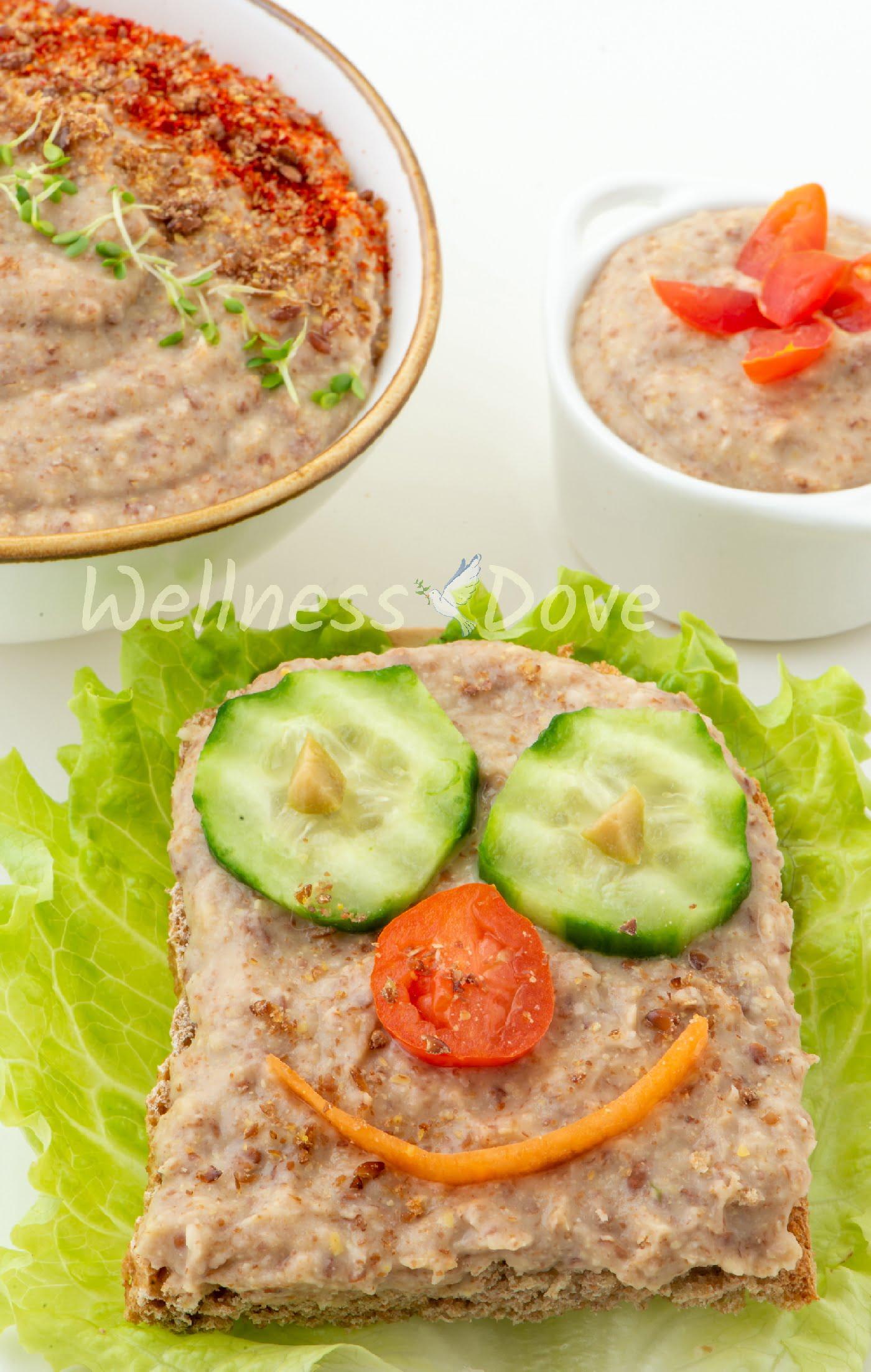 Vegan Bean Dip Recipe Sandwich