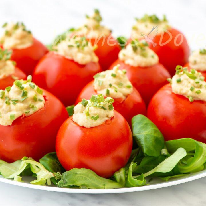 Creamy Vegan Cashew Stuffed Tomatoes