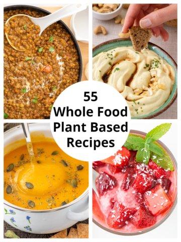55 WFPB Recipes Collage
