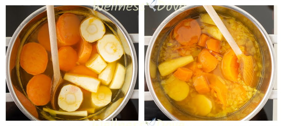 making parsnip soup step 2