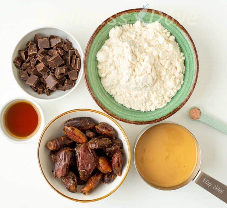 the ingredients for the vegan twix bars