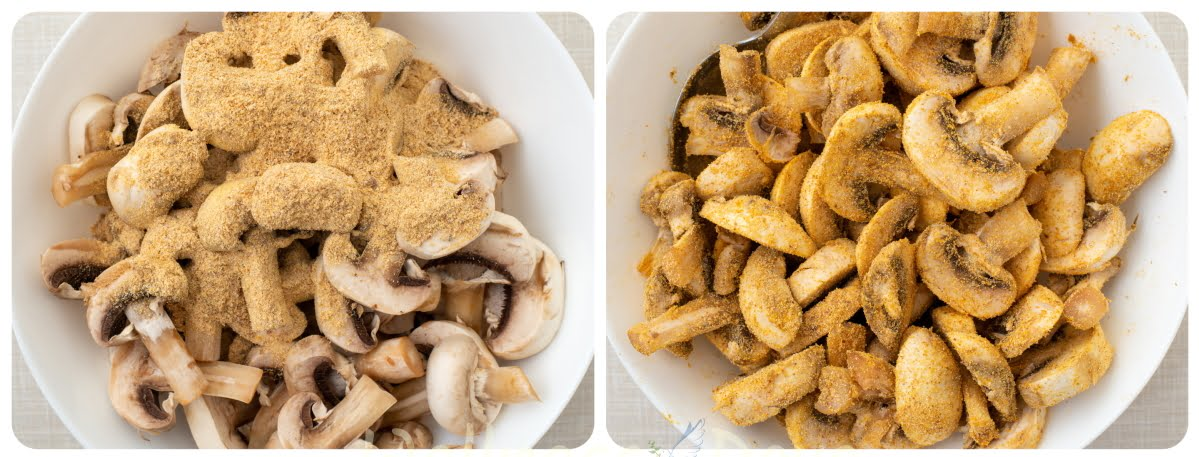 making curry mushrooms