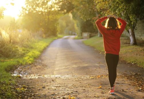 Healthy Walking Woman