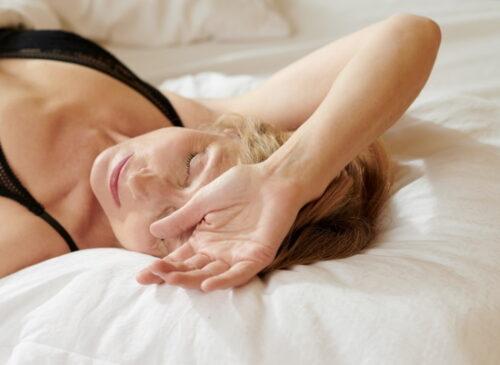 Sleeping Mature Woman Over 40