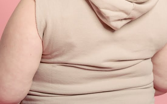 back fat of a woman